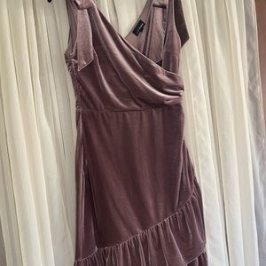 Crushed Velvet Purple Cocktail Dress